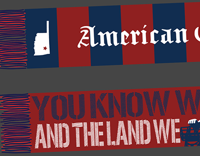 Soccer Scarf Design: American Outlaws Tulsa