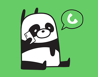 Panda Wanna Sleep - Line Animated Sticker
