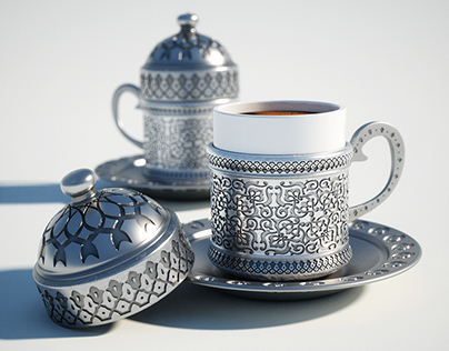 Turkish Coffee Cup - CGI