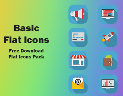 Basic Flat Icons - Free Download (.PSD)