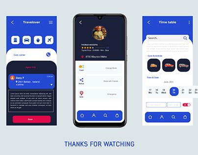 Travelover App UI Design