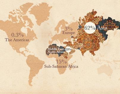 Islam around the world - Infographic