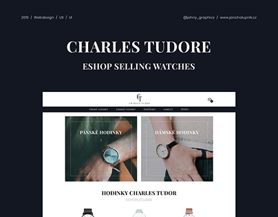 Webdesign UX / UI - Eshop selling watches