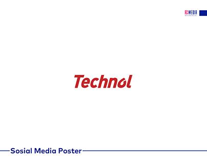Technol üçün hazırlanmış sosial media posterləri