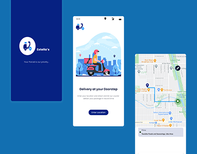 Location Tracker for a delivery app