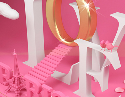 Paris stairway to love / 3D & ART DIRECTION