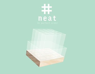 """NEAT"" PEN CONTAINER Product Branding"