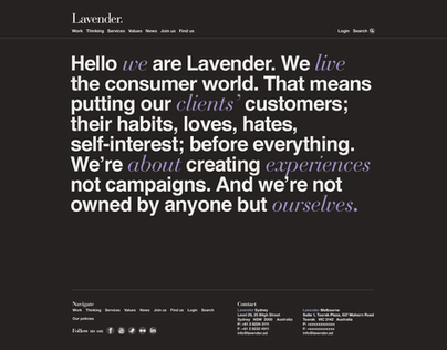 Rebranding Lavender. Website.