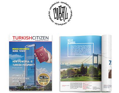 Turkish Citizen Magazine Page Layouts