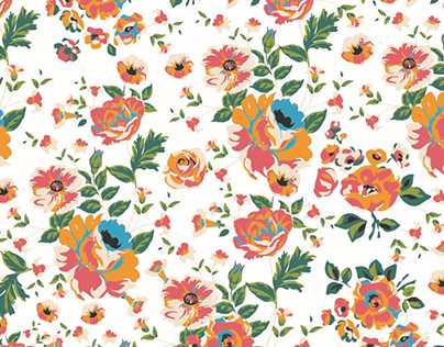 Kitsch floral bedding collection