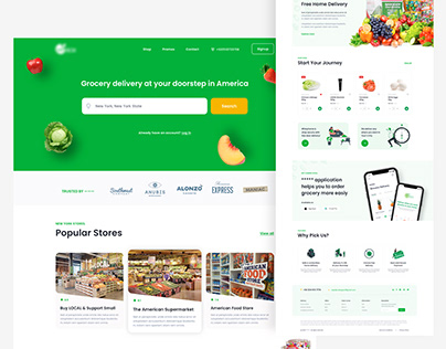 Grocery Delivery Landing Page V2