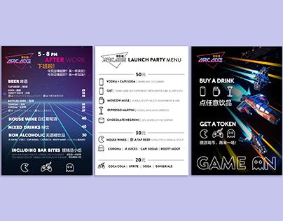 Arcade Beijing: Branded Menus