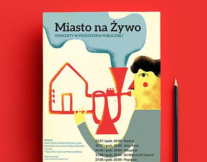 MIASTO NA ŻYWO - graphic identity for event