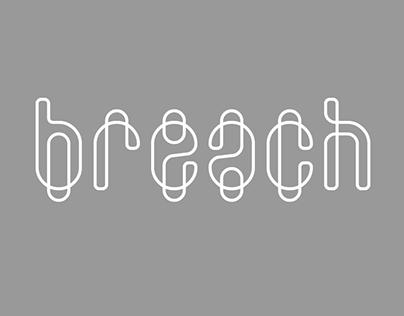 breach, free font