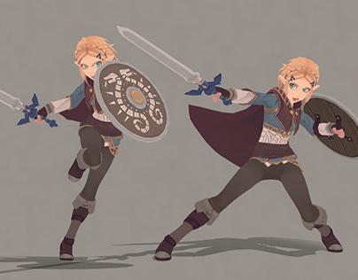 Animated Character TLoZ Zelda BotW (by Cristoph Schoch)