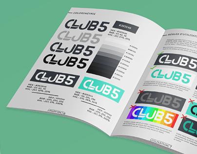 Charte graphique - CLUB5 - Graphiste Freelance - Nice