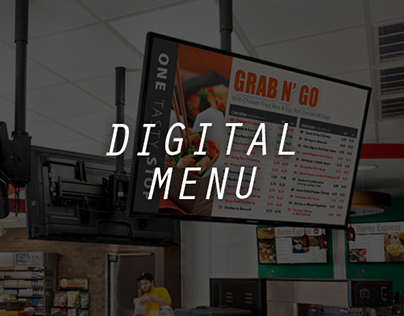 Digital Menu Design