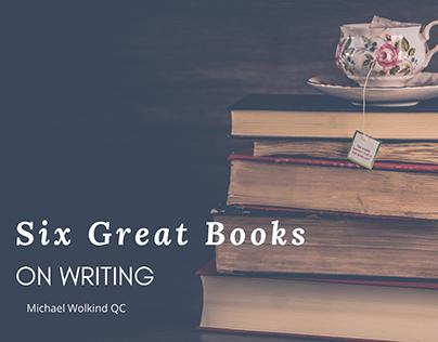 Six Great Books on Writing