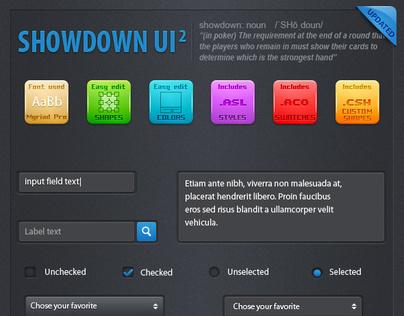 Showdown User Interface Elements