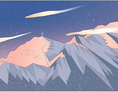 Snow Mountain & Mars time