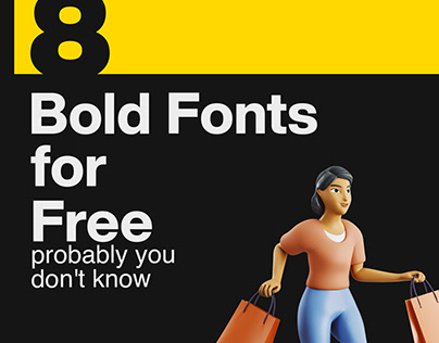 8 Bold Fonts For Free
