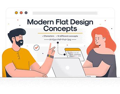 Modern Flat Design Concept