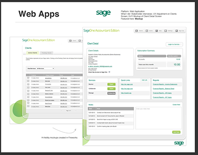 Sage Web Application