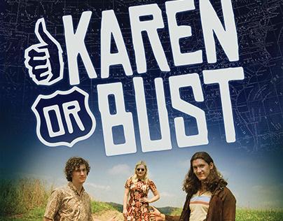 Karen or Bust - Logo and Film Poster