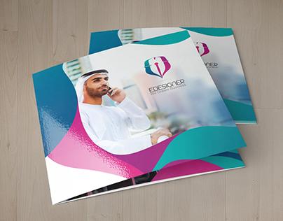 "EDESIGNER Tri-fold ""English & Arabic"""