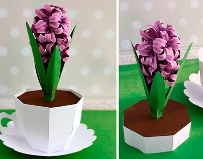 Paper Hyacinth in a Paper Cup