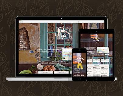 Havana'59 restaurant website redesign