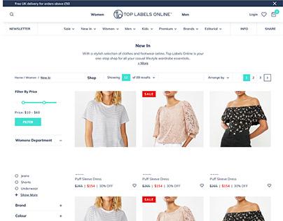 TopLabelsOnline UK E-Shop Design