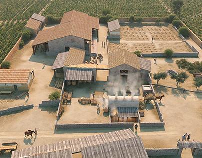 Roman villa of Les Cabanyes(Barcelona), 1st ctry C.E