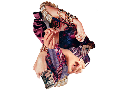Hands - Handmade collages
