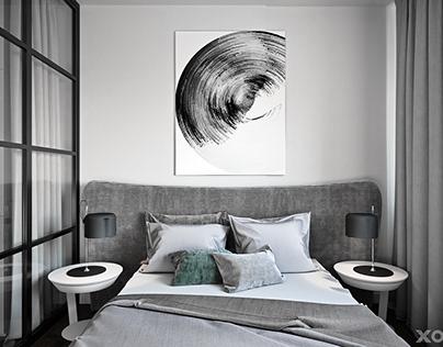 Beautiful minimalism in 48 m2