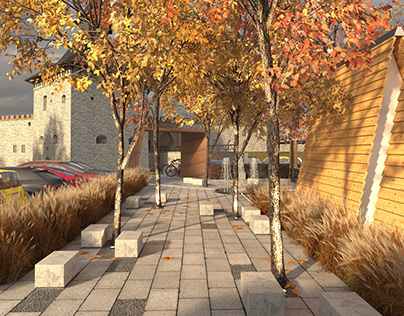 urban space project in Medzhybizh (contest)
