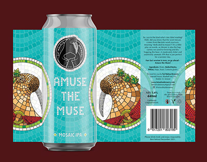 Craft IPA Beer Label Design - Amuse the Muse