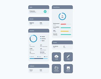 Admin Dashboard Concept