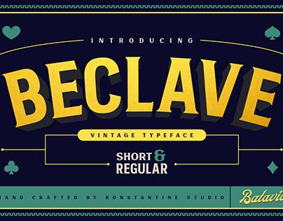 Beclave - Vintage Typeface