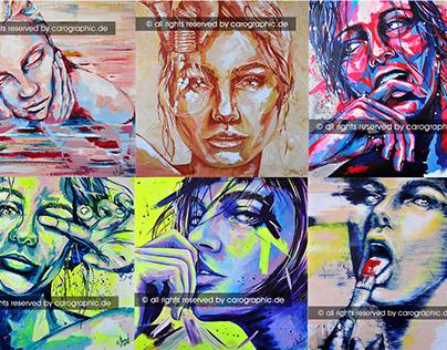 portrait acryl art colorful painting artist