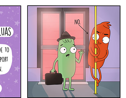 'How Not to Behave on The Luas' Comic
