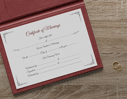 Free Certificate of Marriage Design Template in Ai