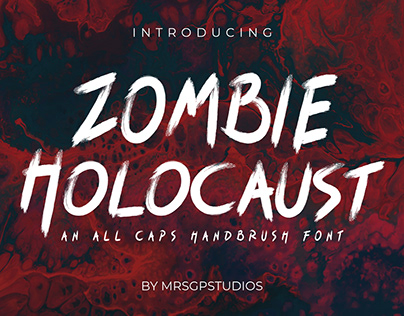 Zombie Holocaust Handbrush Font