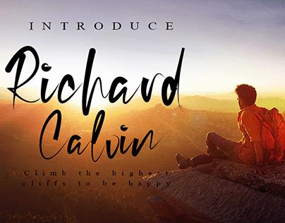 Richard Calvin Font | Best Calligraphy Signature Font