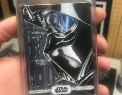 Darth Vader Topps Chrome Legacy AP Card