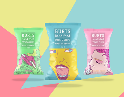 Burts Potato Chips Packaging