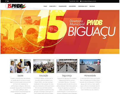 Site from PMDB (politican site) from Santa Catarina
