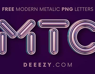 Modern Metalic - Free 3D Lettering