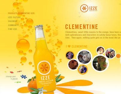 Izze.com (design comp)