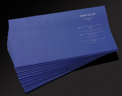 ROBERT GELLER, AW12 Show Invitation
